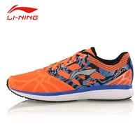 Li Ning Men's Outdoor Portable Running Shoes Li Ning Speed Star Anti Skid Breathable PU+Fabric Sports Sneakers ARHM021