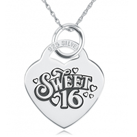 GNX14537 Custom Engraved Necklace 100 Fine 925 Sterling Silver Sweet 16 Jewelry Pendants Necklaces Special Birthday