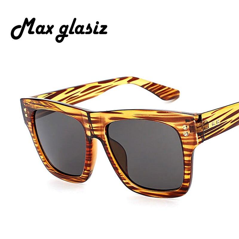 Max glasiz oversized square sunglasses men gradient 2017 summer style stripe classic women sun glasses big square uv400 eyewear