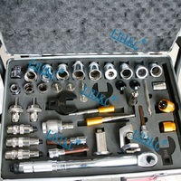 ERIKC Hot Sale Injector Repair Tool Kits Diesel Fuel Injector Dismantling Equipments Total 40 pieces