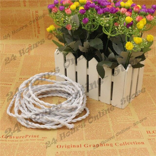 Weiße Farbe 5 mt/los 2x0,75 Vintage seil Verdreht Kabel Retro ...