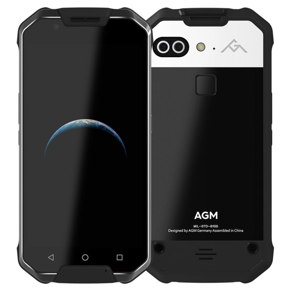 OFFICIAL AGM X2 5.54G Smartphone 6+64/128GB Android 7.1 Mobile Phone IP68 Waterproof Octa Core 6000mAh Rugged Phone 16.0MP VOC