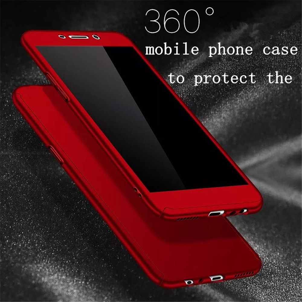 360 Degree Full Protection Cover For <font><b>OPPO</b></font> R9 Case Luxury <font><b>Phone</b></font> Case For <font><b>OPPO</b></font> F7 F5 F1 R9 Plus Case PC Fundas With Tempered Glass