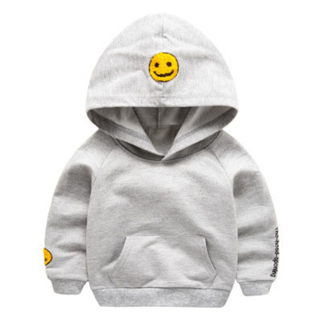 Baby Boys t-shirt leisure Hoodie coat children's smiling face top outwear spring