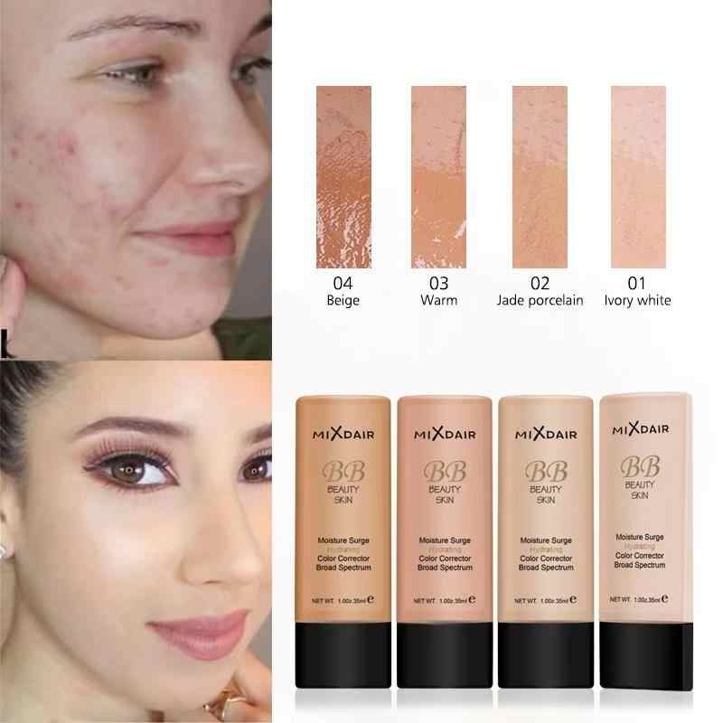 MIXDAIR Face Liquid Foundation Moisturizing Make Up Base BB Cream Brightening Concealer Natural Face Primer Full Coverage