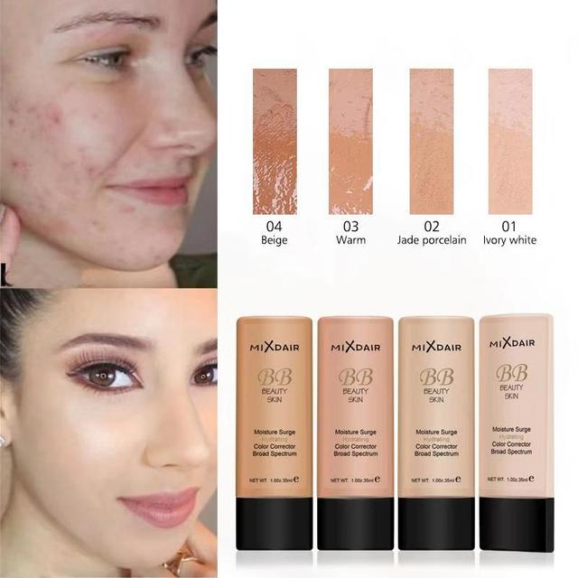 MIXDAIR Foundation Face Liquid Moisturizing Make Up Base BB Cream Brightening Concealer Natural Face Primer Full Coverage