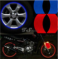 "16 Strips Bike Car Motorcycle Wheel Tire Reflective Rim Stickers And Decals Decoration Stickers 17""18"" 7 Color Car Styling New"