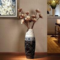 Европейский стиль Современная керамическая напольная ваза модный гостиной новый дом ТВ кабинет украшения домашнего интерьера украшения