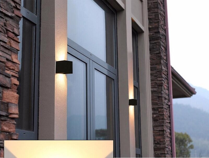6W 12W 220V IP65 LED Source Up And Down Lighting Modern Minimalist Porch Garden Light  Surface Mounted Outdoor  Led wall light
