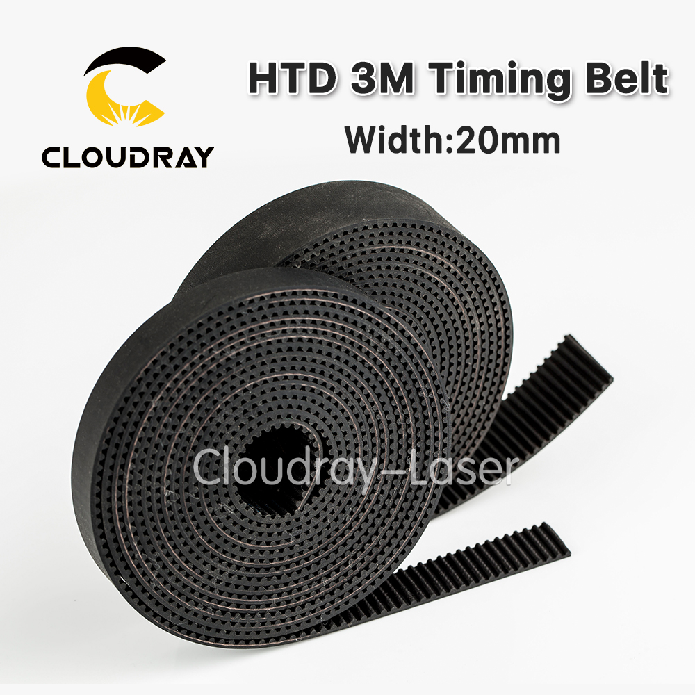 Cloudray High Quality 10meters HTD3M PU Open Belt 3M Timing Belt 3M-20 Polyurethane for CO2 Laser Engraving Cutting Machine high quality 25mm 3m 10000mm long belt for jhf inkjet printer
