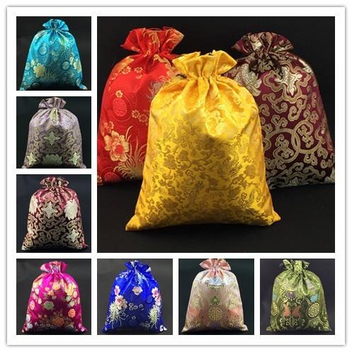 高級花ブラジャー下着旅行バッグ靴ポーチバッグ巾着再利用可能なシルクブロケード二重層収納袋30ピース/ロット  グループ上の ホーム&ガーデン からの ドロワーオーガナイザー の中 2