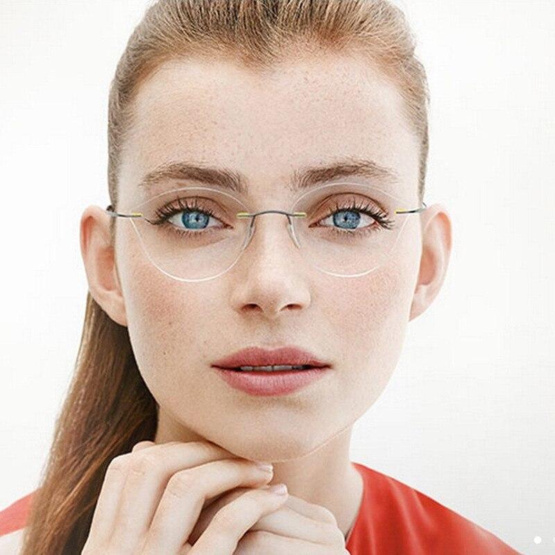 2017 Stilvolle Frauen Ohne Grenzen Cat Eye Optische Gläser Rahmen Weibliche Computer Katze Brillen Gläser Belebende Durchblutung Und Schmerzen Stoppen