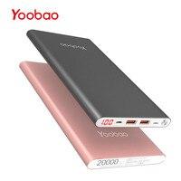 Yoobao A2 20000mAh Universal Power Bank Dual USB Output Input Ultra Slim Li Polymer Mobile Portable