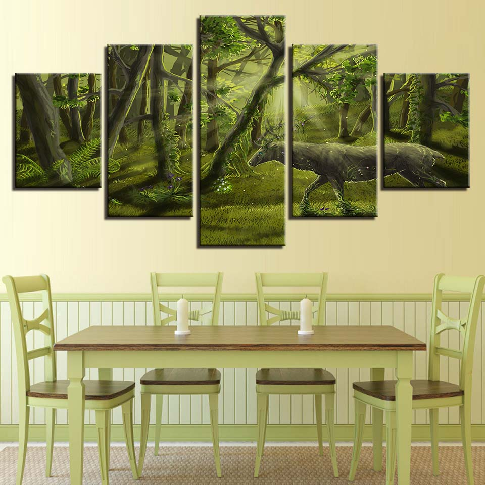 Canvas Wall Art Pictures Home Decor For Living Room 5 Pieces Natural ...