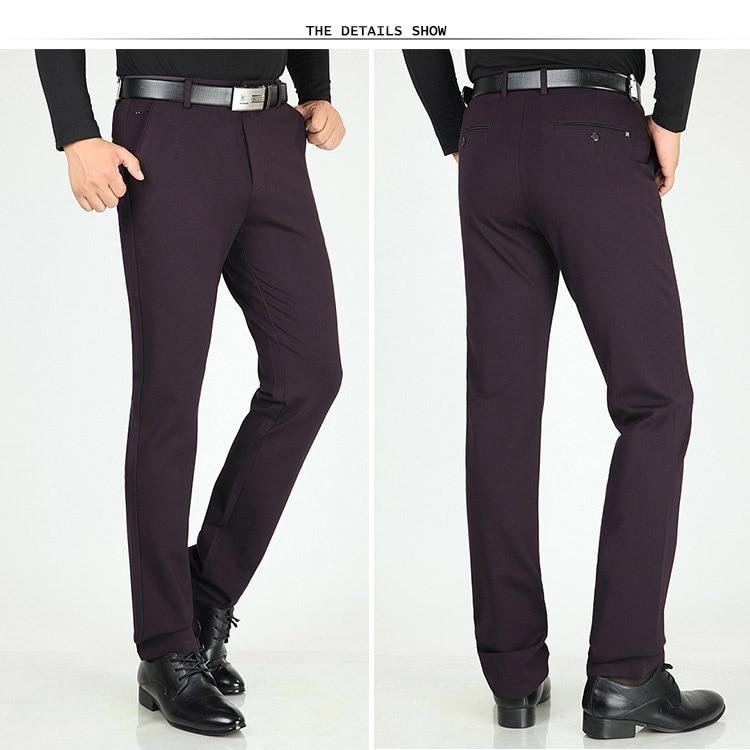 Classic Pants Men Suit Dress Casual Pants Men Straight Fit Business Work Office Formal Pants Big Size Autumn Men's Trousers Male