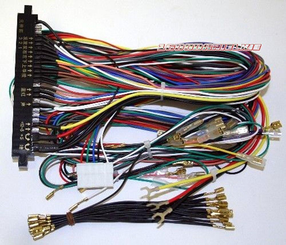 arcade motherboard cabinet wire wiring harness loom multicade arcade pcb cables for jamma 60 in 1 [ 1000 x 856 Pixel ]