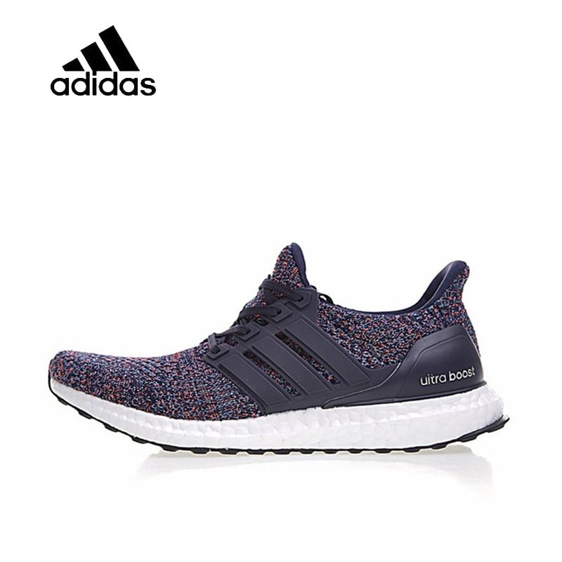 Original Nouvelle Arrivée Officiel Adidas Ultra Boost 4.0 Marine Multicolore Chaussures de Course Pour Hommes respirant chaussures de plein air anti antidérapant
