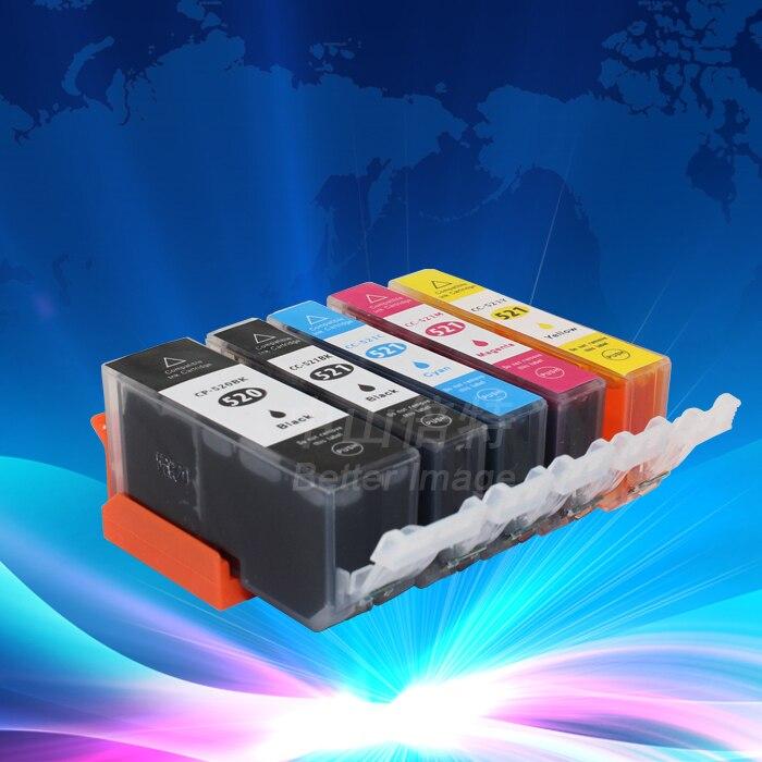 INK WAY 5pcs CHIPPED pgi-520 PGI 520 BK CLI 521 BK C M Y ink cartridge For canon PIXMA MP540MP550MP560MP620MP630MP640