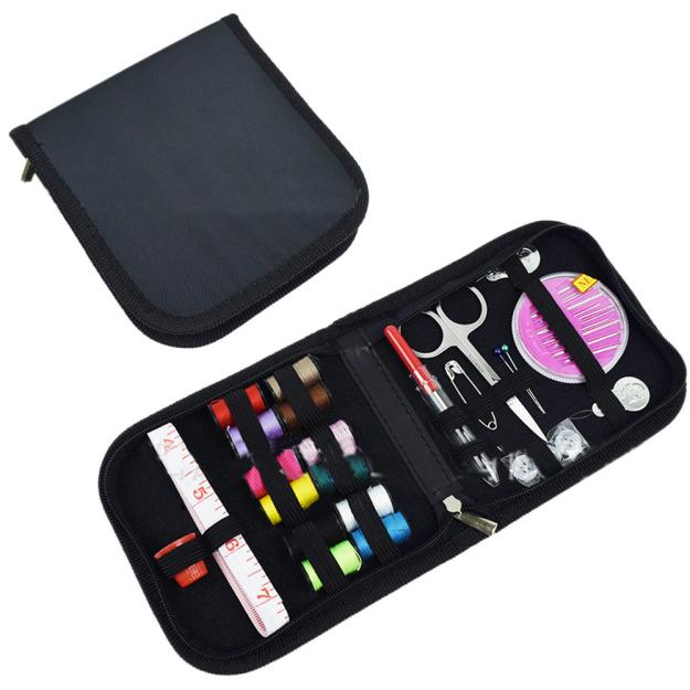 Craft DIY Sewing Kit for Travel Home Includes Needles/Threaders/Mini Scissors/Safety Pin/Thread Bobbins/Tape/Thimbles/Buttons