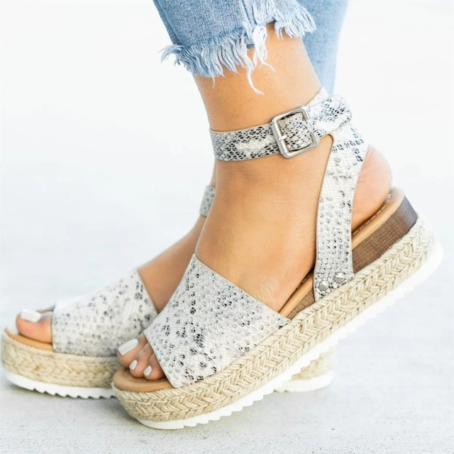 Women Sandals Plus Size Wedges High Heels Sandals Summer Shoes 3