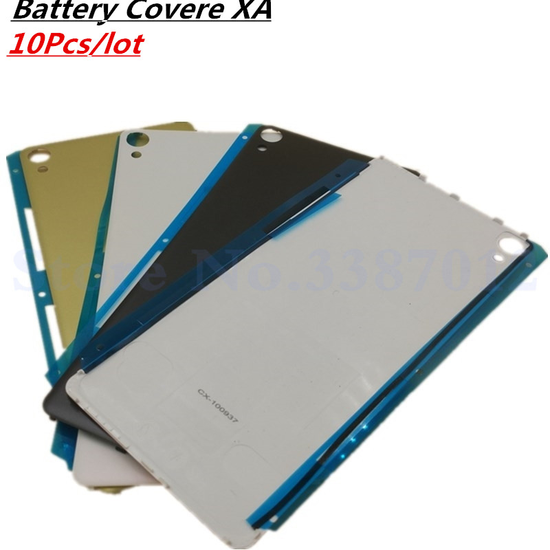 10Pcs/lot <font><b>Battery</b></font> Cover For <font><b>Sony</b></font> <font><b>Xperia</b></font> <font><b>XA</b></font> F3111 F3113 F3115 Rear Back Housing <font><b>Case</b></font> With Logo Replacement Parts image