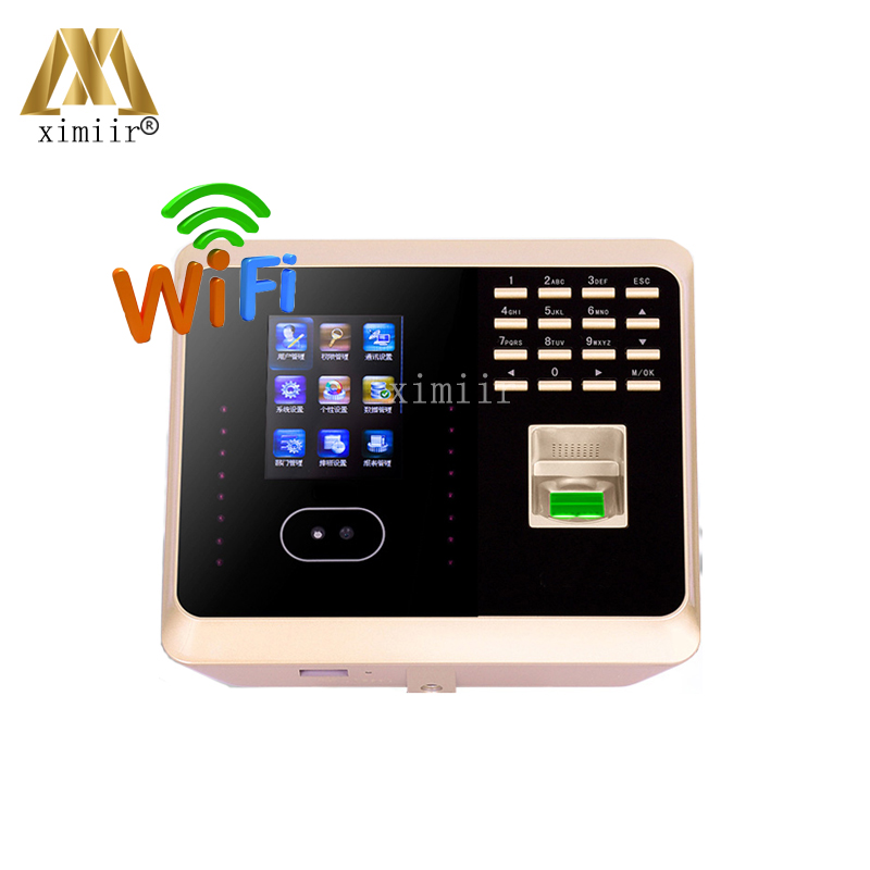 Biometric Facial Recognition Time Attendance UF100 Plus Face+fingerprint+password Time Recording TCP/IP USB WIFI Time Clock