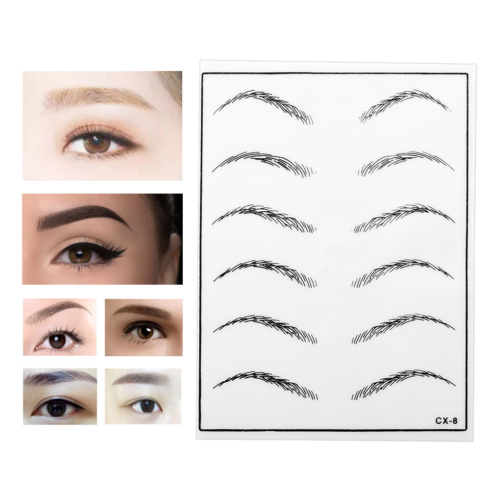 ATOMUS 5pcs Cosmetic Permanent Makeup Eyebrow Tattoo Practice Skin Supply Fake Eyebrow Tattoo Practice Skin For Microblading