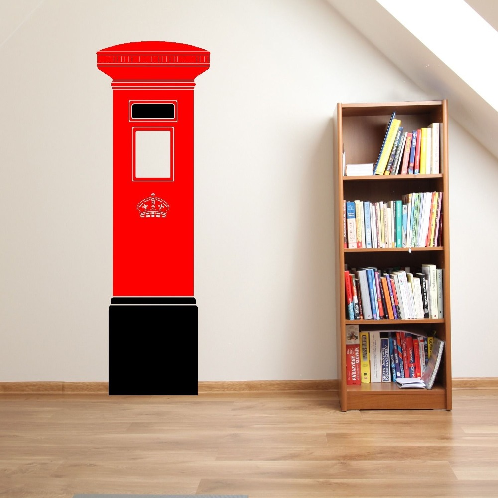Uk Postbox Letterbox 48cm X 150cm Vinyl Wall Sticker Home Decor Room Decal Art Mural