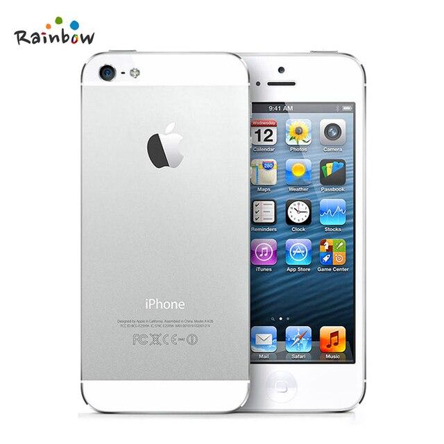 Originele iPhone 5 IOS Factory Unlocked Mobiele Telefoon, IPS 8.0MP GPS 3G IOS Systeem Gebruikt