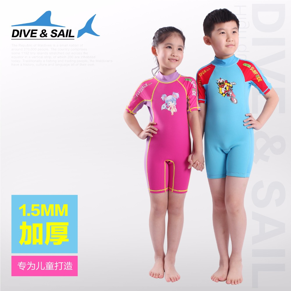 ФОТО  2mm Youth Swimwear Neoprene+ Lycra Kids WetsuitRash Guard for Child Swim Snorkeling Boys and Girls Dive Skin Wet Suit Wholesale