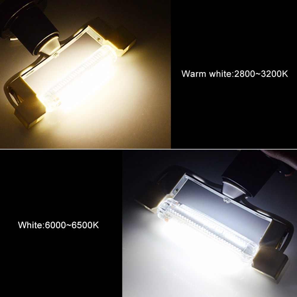 78mm 118mm R7S lámpara Led J78 J118 AC 220V 110V 2835SMD 64 128 Led reemplazo de proyector de halógeno proyector R7S Lamparas No Flicker