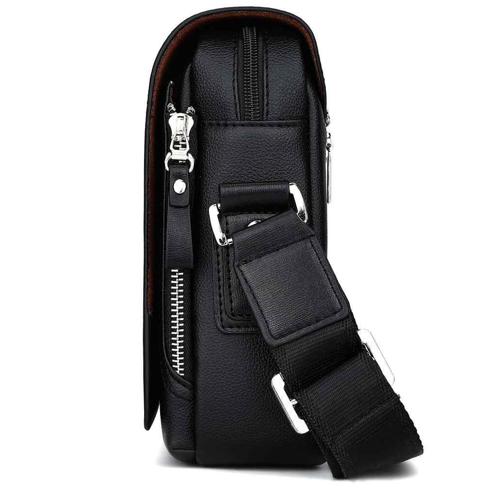 VICUNA POLO Hoge Capaciteit Toevallige Lederen Kleine Messenger Bags Voor Mannen Met Kaarthouder Merk Mens Side Crossbody Schoudertas