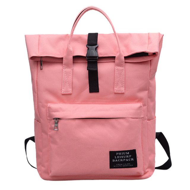 8b91fe6f001b Pink Nylon Large Capacity Backpack Women Bucket Shoulder Waterproof  Backpacks Casual Daypack Rucksack Satchel Backpacks Bag