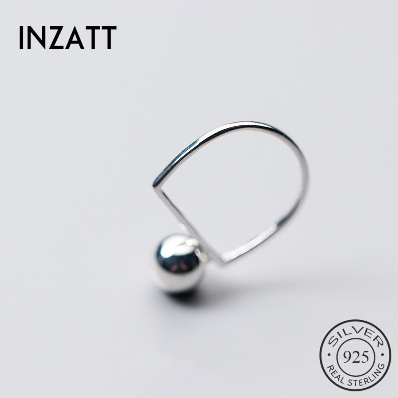 INZATT New Hot Unique Charming Sterling-silver-jewelry Forefinger Ring AAA Fine Jewelry Accessories For Women Anniversary Gift
