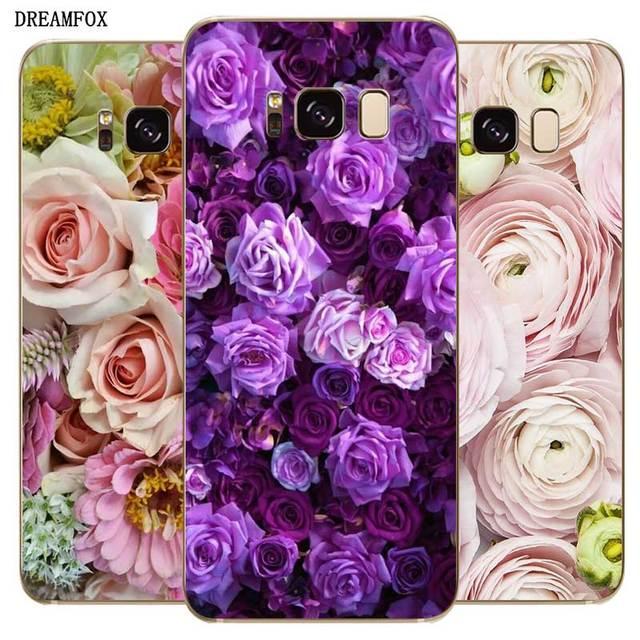 N306 Delicate Flower Soft TPU Silicone Case For Samsung Galaxy A2 Core A6 A7 A8 A9 A10 A30 A40 A50 A60 A70 A8S A9S A20E Plus