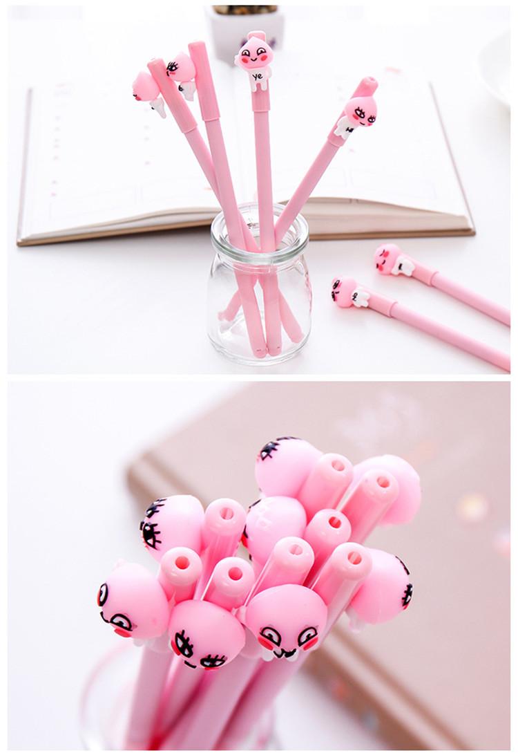 4 Pcs/Lot Peach king neutral pens & Gel pens Cute Pink Kawaii Kid ...