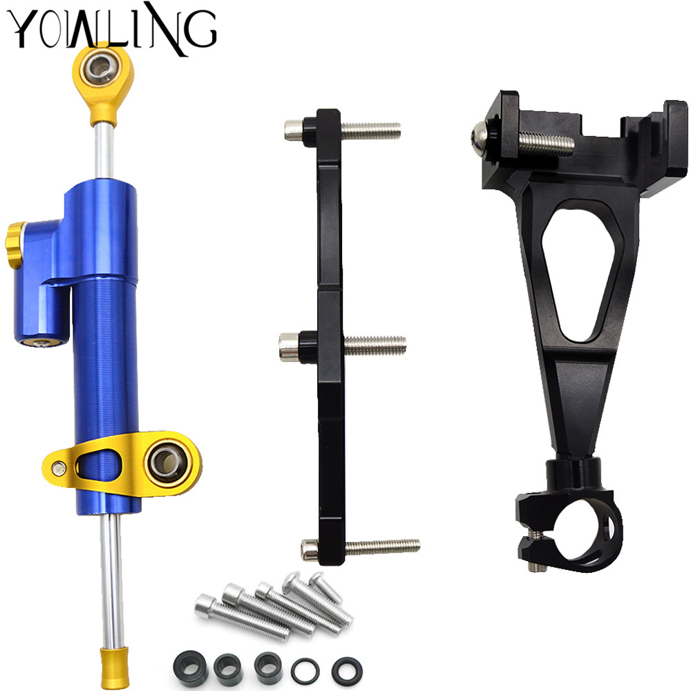 Motorcycle CNC Stabilizer Damper Complete Steering Mounting Bracket with Stand For Yamaha MT09 MT-09 MT 09 FZ09 FZ-09 2013- 2016Motorcycle CNC Stabilizer Damper Complete Steering Mounting Bracket with Stand For Yamaha MT09 MT-09 MT 09 FZ09 FZ-09 2013- 2016
