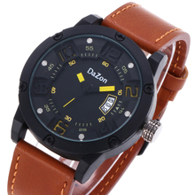 2018 Brand Fashion Casual Sports Military Men's Watch Clock Luxury Leather Strap Calendar Quartz Men Watches Large Wristwatches цена в Москве и Питере