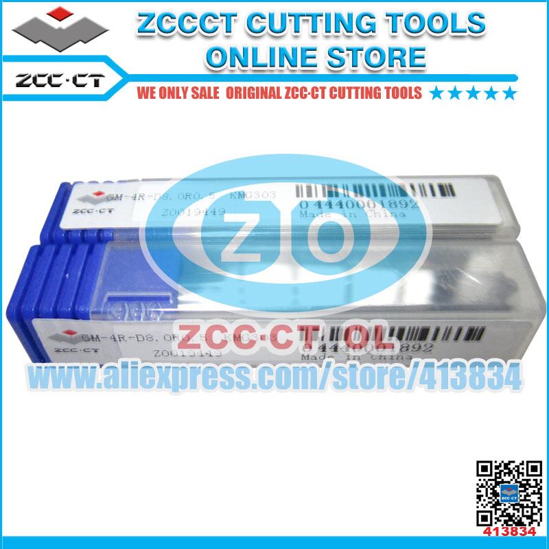 10pcs GM 4R D8 0R0 5 ZCC CT solid carbide end mills 4 flutes 8mm diamater