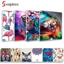 Fundas de silicona para iPadPro 12,9 2017 2018 funda trasera suave TPU para Apple iPadPro 10,5 9,7 8 6 2016 iPad6 mini 4 tableta(China)