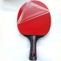 Lemuria 最高品質のプロフェッショナルロングとショートハンドルグリップ卓球ラケットシェークハンドピンポンラケットパドルゴムコウモリ