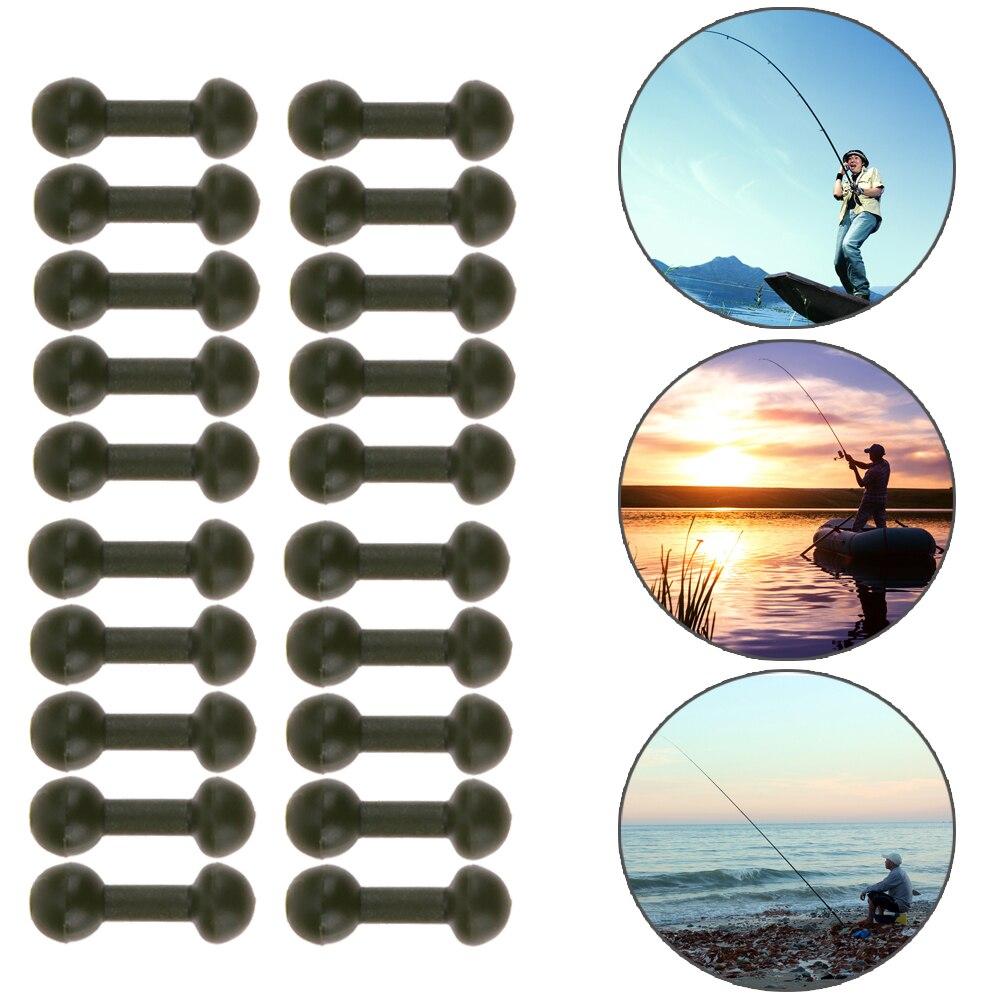 20Pcs/40Pcs Carp fishing Chod Beads Rubber Soft Bead Release Rig Heli Carp Fishing Swivel Accessories