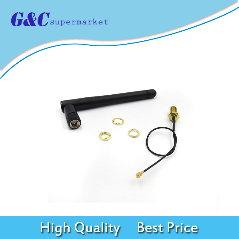 SMA Antenna Extension Cable 3DBI Gain Antenna for ESP8266 Serial Wifi Module ESP-02 2.4G