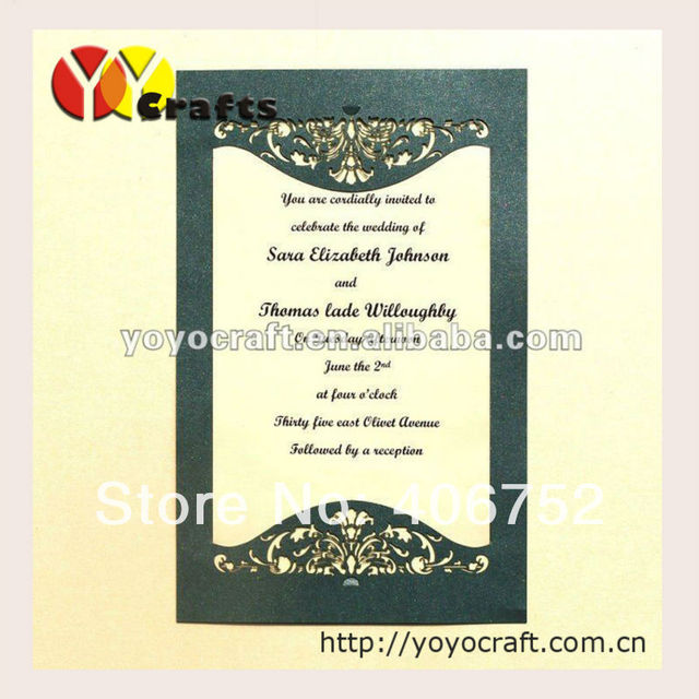 Aliexpress buy new design customized beautiful elegant wedding new design customized beautiful elegant wedding invitation card birthday invitation card with envelope and insert filmwisefo
