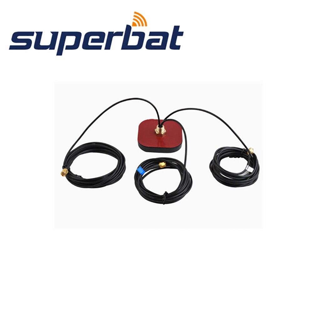 Superbat 3 en 1 fonction antenne multi bande GPS + WiFi + GSM antenne Signal aérien Booster SMA connecteur mâle connecteur 50ohm 3M câble-in Antennes pour Communications from Téléphones portables et télécommunications on AliExpress - 11.11_Double 11_Singles' Day 1