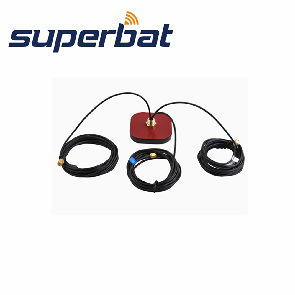 Superbat 3 in 1 Funtion Multi-band Antenna GPS+WiFi+GSM Antenna Aerial Signal Booster SMA Male Plug Connector 50ohm 3M CableSuperbat 3 in 1 Funtion Multi-band Antenna GPS+WiFi+GSM Antenna Aerial Signal Booster SMA Male Plug Connector 50ohm 3M Cable