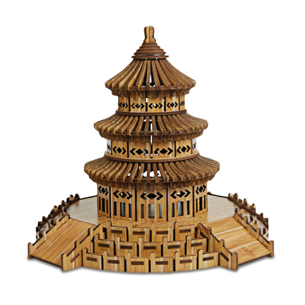 3D Jigsaw Puzzle Of China Temple Of Heaven Educational Toys Woodcraft Assembly Kit Handmade 3D Puzzles Craft Gift For Friends ...