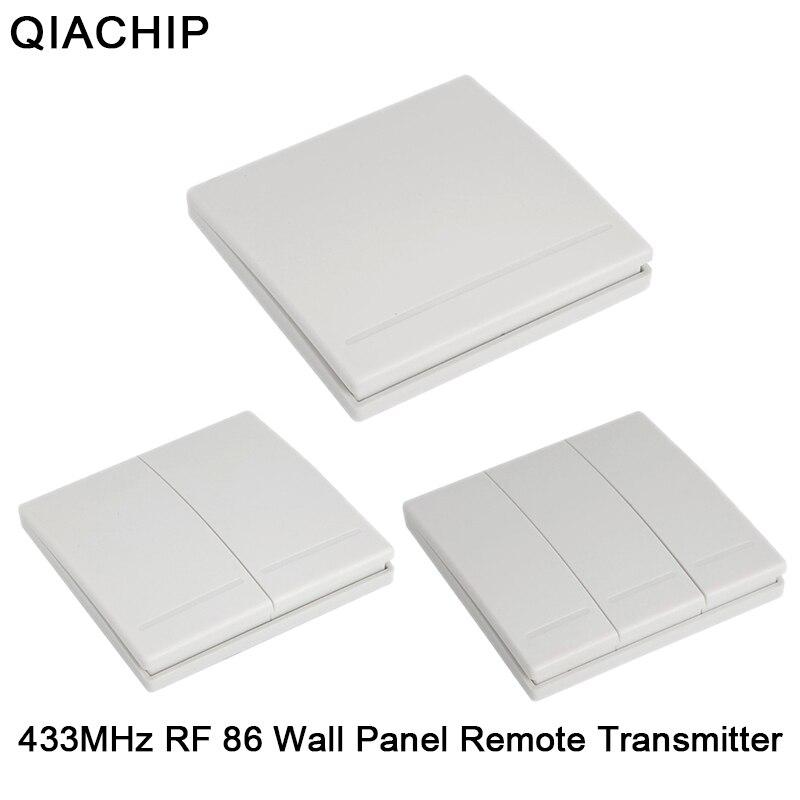 black IoT Funk Lichtschalter RF Switch 3 Kanal front glas panel white 433 MHz
