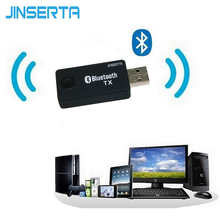 JINSERTA Bluetooth Audio Music Transmitter For Computer TV USB Bluetooth 3.5mm Audio Music Receiver Adapter