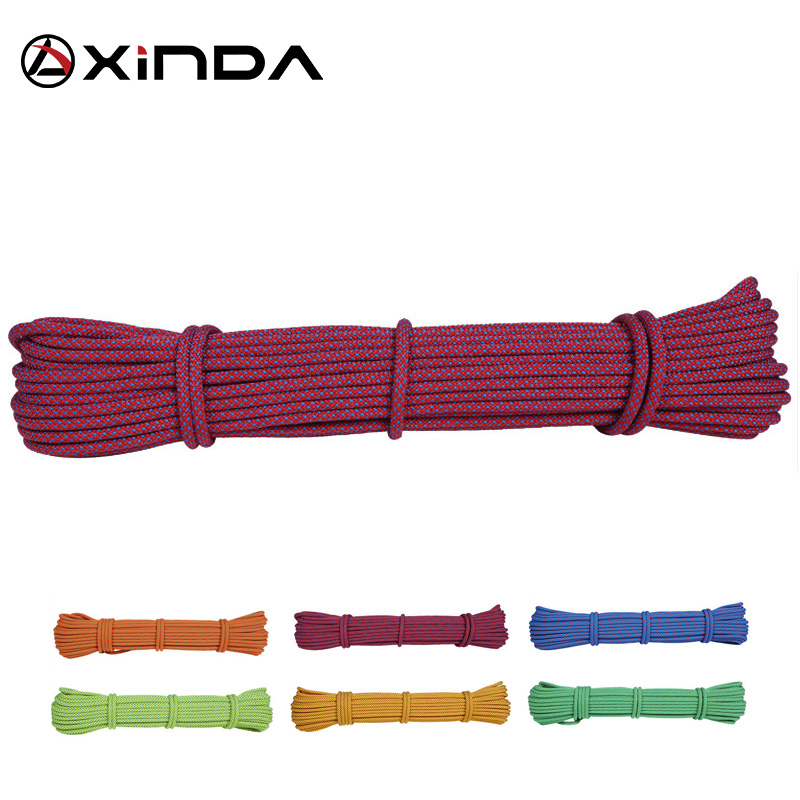 XINDA Escalada 10m Paracord Rock Climbing Rope Accessories Cord 6mm Diameter 5KN High Strength Paracord Safety Rope Survival